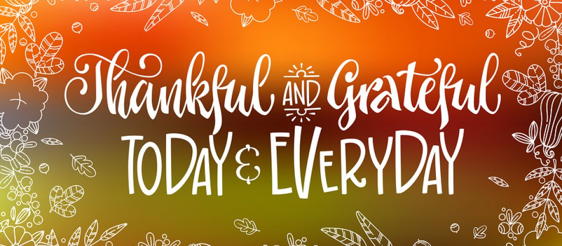 Thankful And Grateful Today And Everyday - Quote. Thanksgiving D